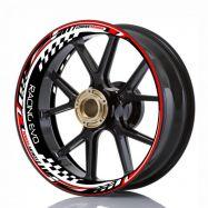 Aufkleber Felgenrand Wheelskinzz® Racing EVO Rot/Schwarz/Weiß