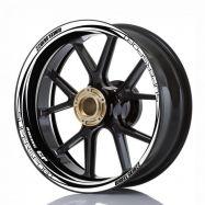 Aufkleber Felgenrand Wheelskinzz® Racing GP Schwarz/Weiß