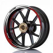 Aufkleber Felgenrand Wheelskinzz® Racing GP Rot/Weiß