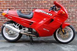 Aufkleber Ducati schwarz/silber/weiss auf Tank Ducati 907 ie.
