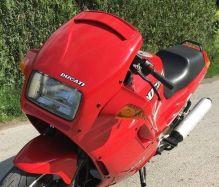 Aufkleber Ducati schwarz/silber/weiß auf Verkleidung vorne Ducati 907ie