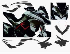 Aufklebersatz für Ducati Multistrada 1200 Bj 2015